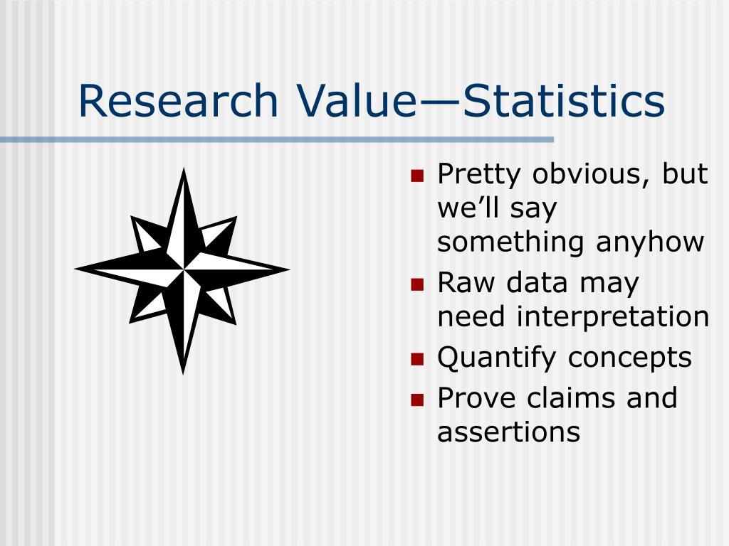 Research Value—Statistics