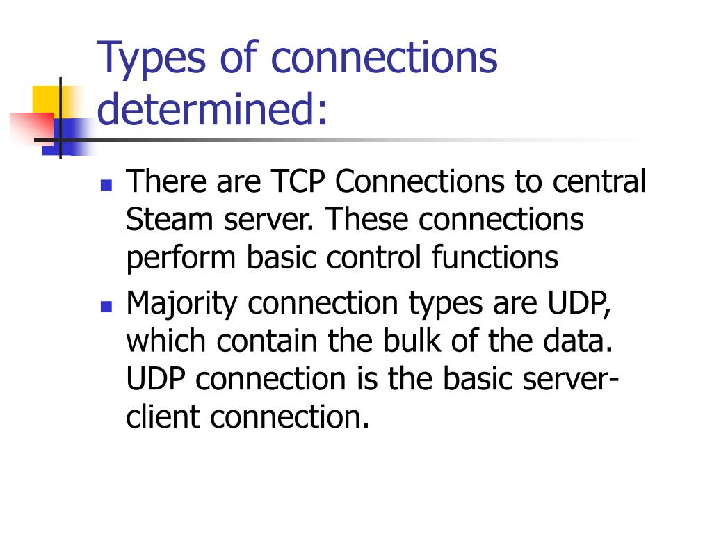 Types of connections determined:
