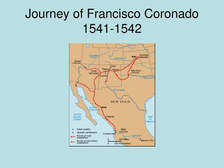 Journey of francisco coronado 1541 1542