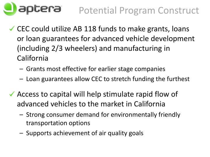Potential Program Construct