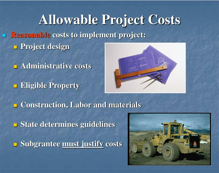Allowable Project Costs