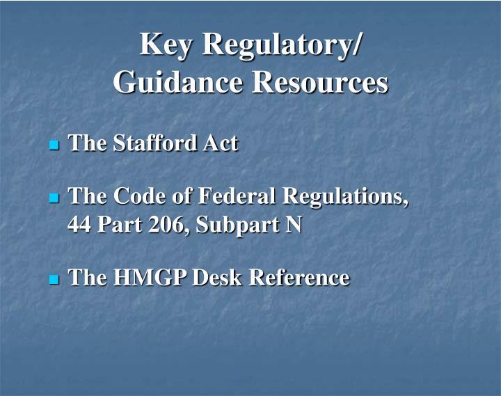 Key Regulatory/