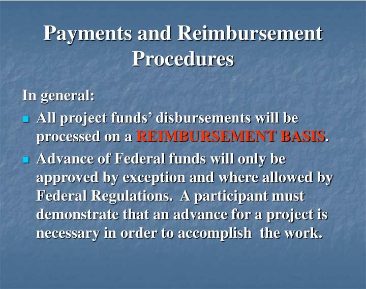 Payments and Reimbursement Procedures