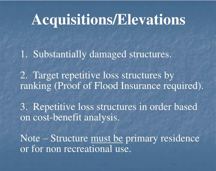 Acquisitions/Elevations