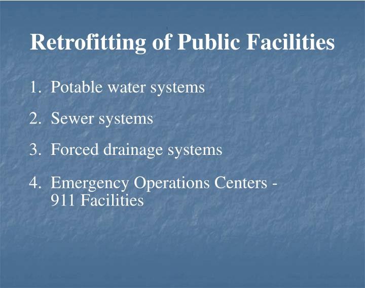 Retrofitting of Public Facilities