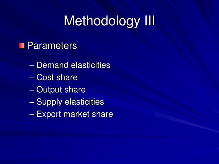 Methodology III