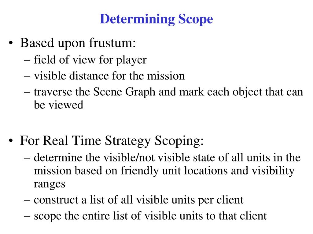 Determining Scope