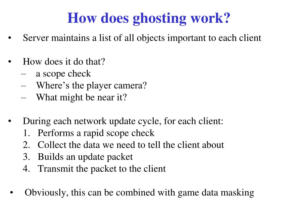 How does ghosting work?
