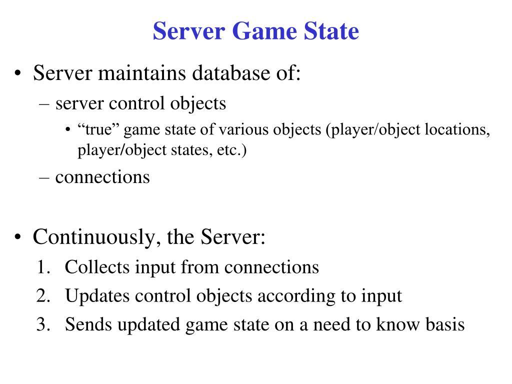Server Game State
