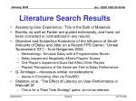 literature search results