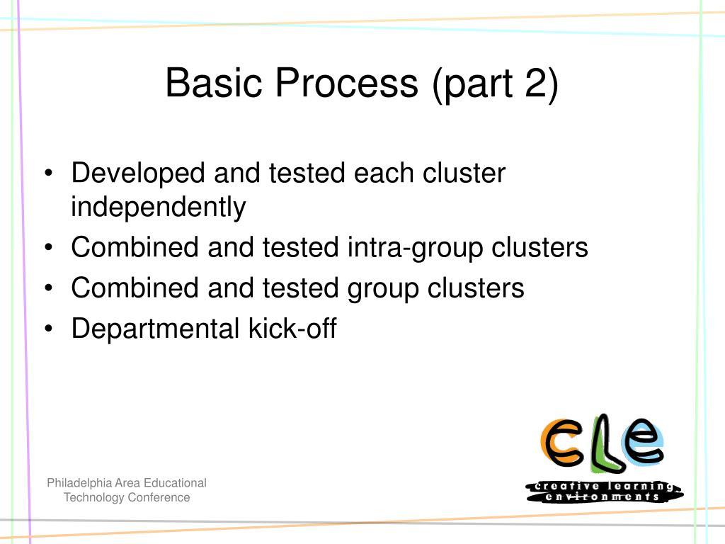 Basic Process (part 2)