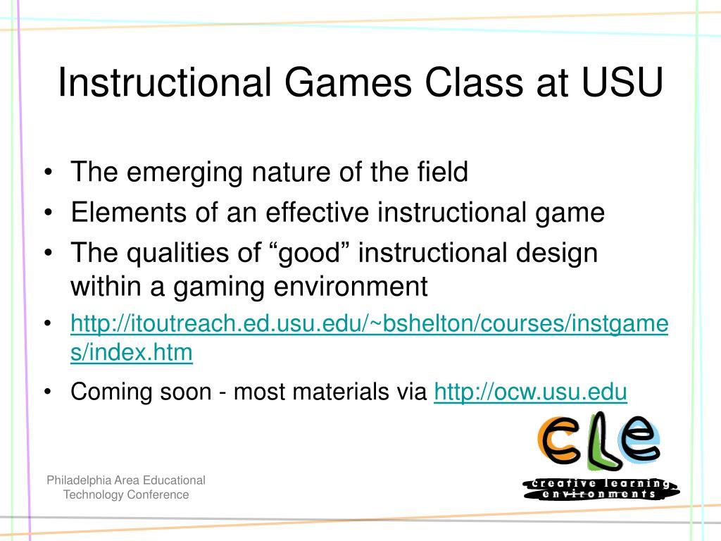 Instructional Games Class at USU
