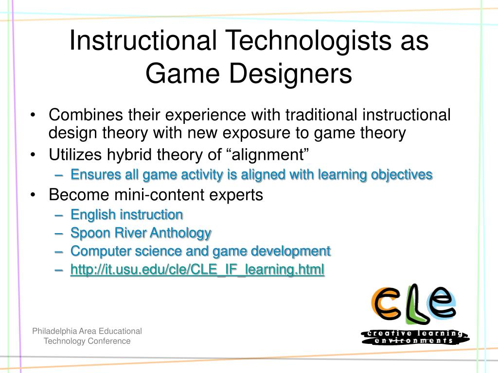 Instructional Technologists as Game Designers