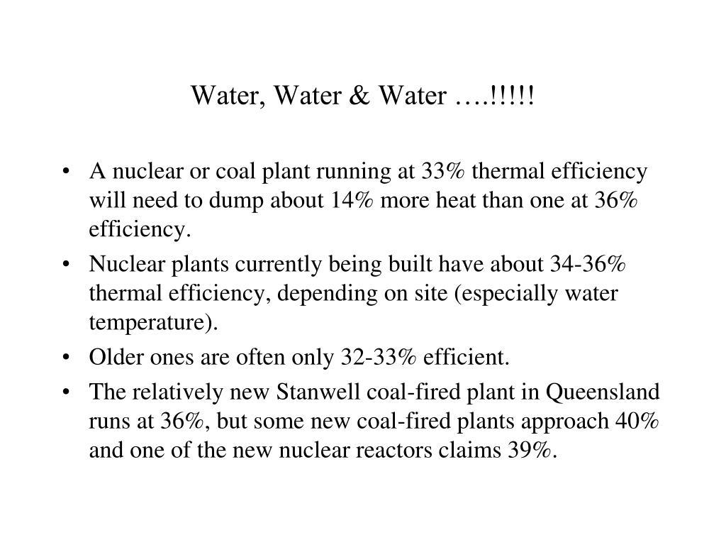 Water, Water & Water ….!!!!!
