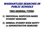 warrantless searches in public schools