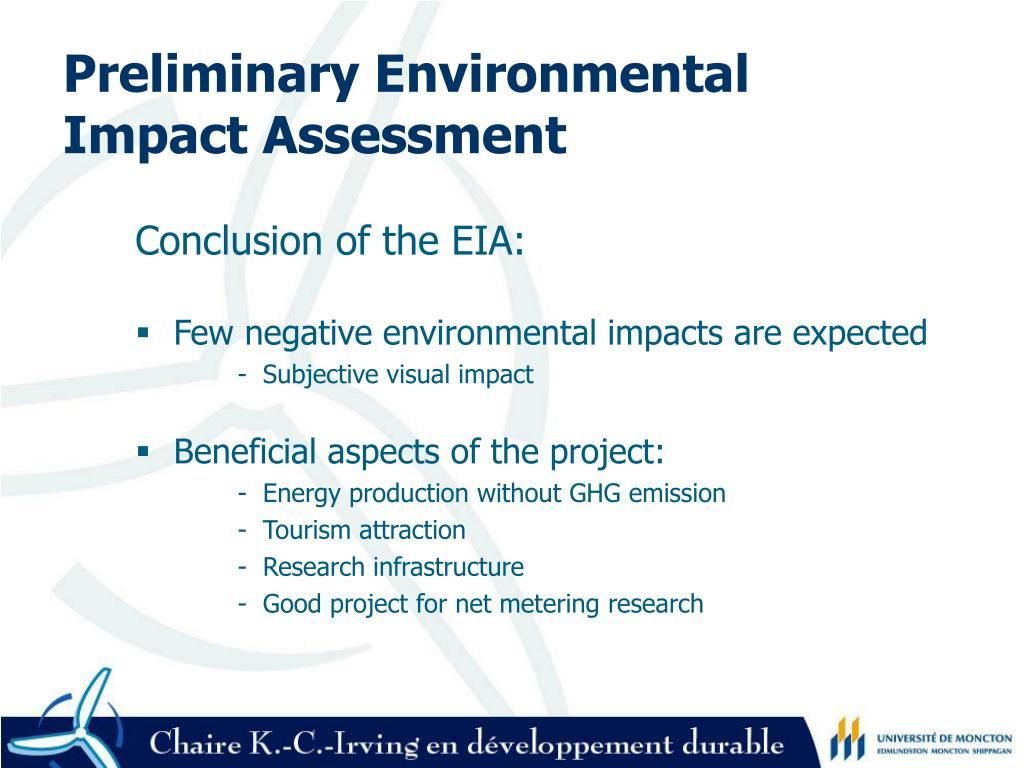 Preliminary Environmental