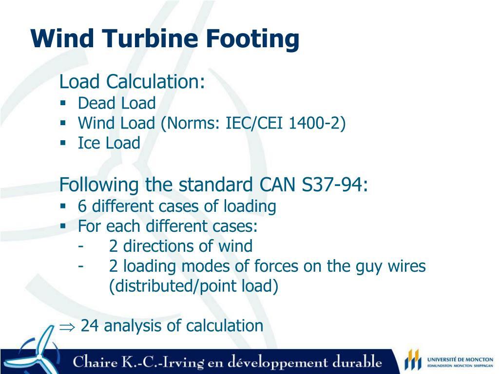 Wind Turbine Footing