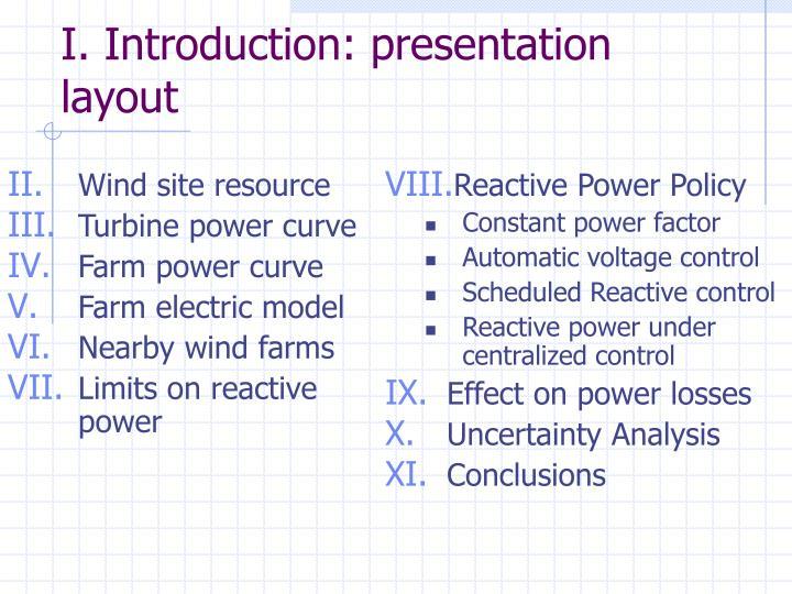 I introduction presentation layout
