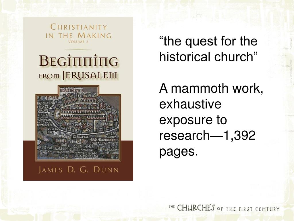 """the quest for the historical church"""