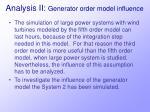 analysis ii generator order model influence22