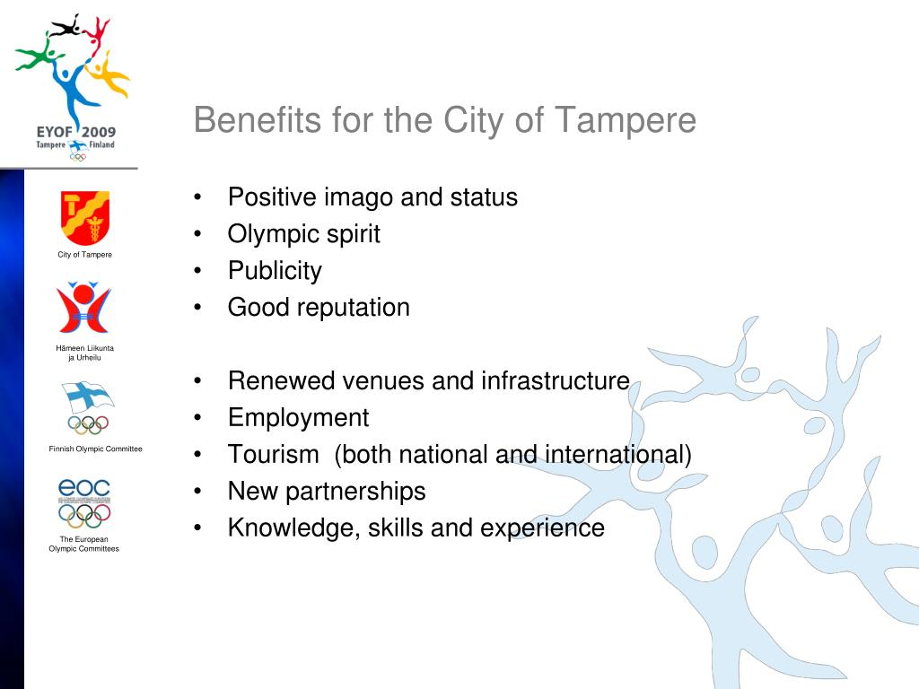 Benefits for the City of Tampere