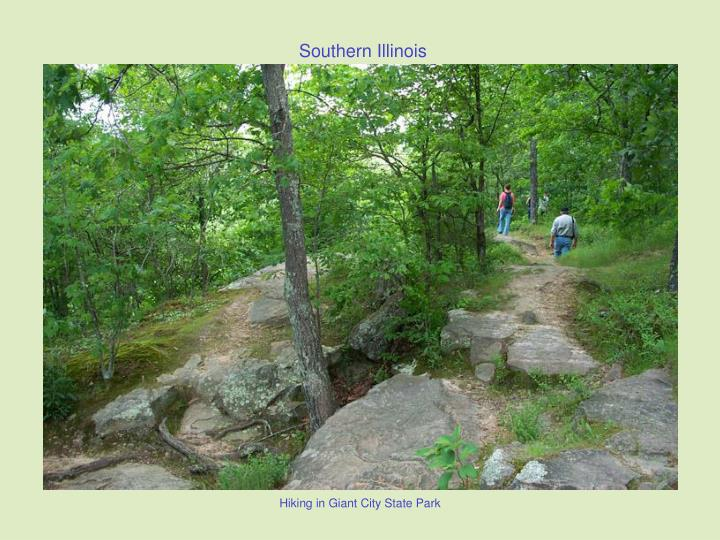 Hiking in Giant City State Park