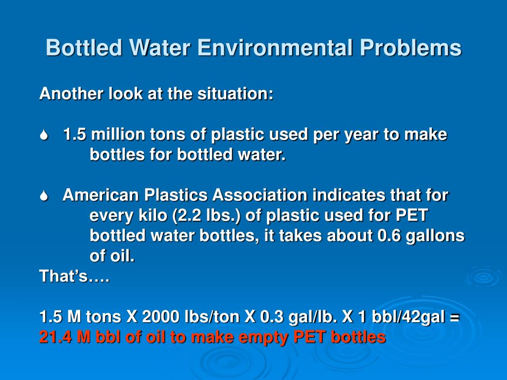Bottled Water Environmental Problems