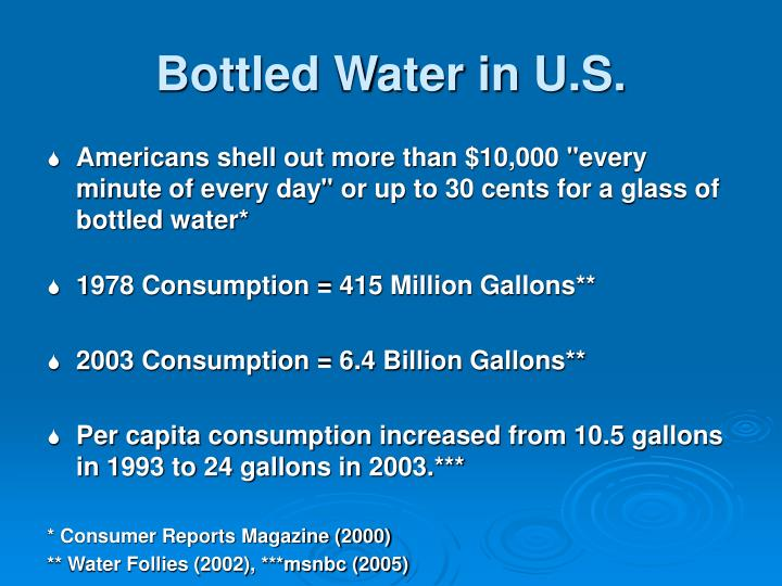 Bottled water in u s
