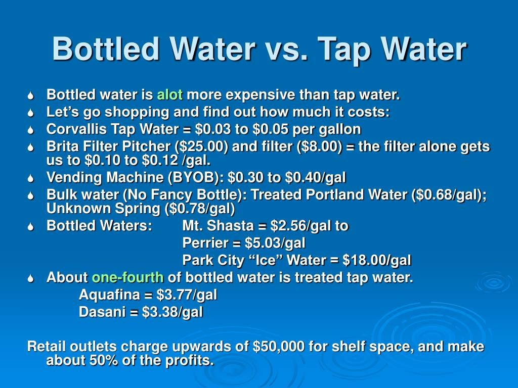Bottled Water vs. Tap Water