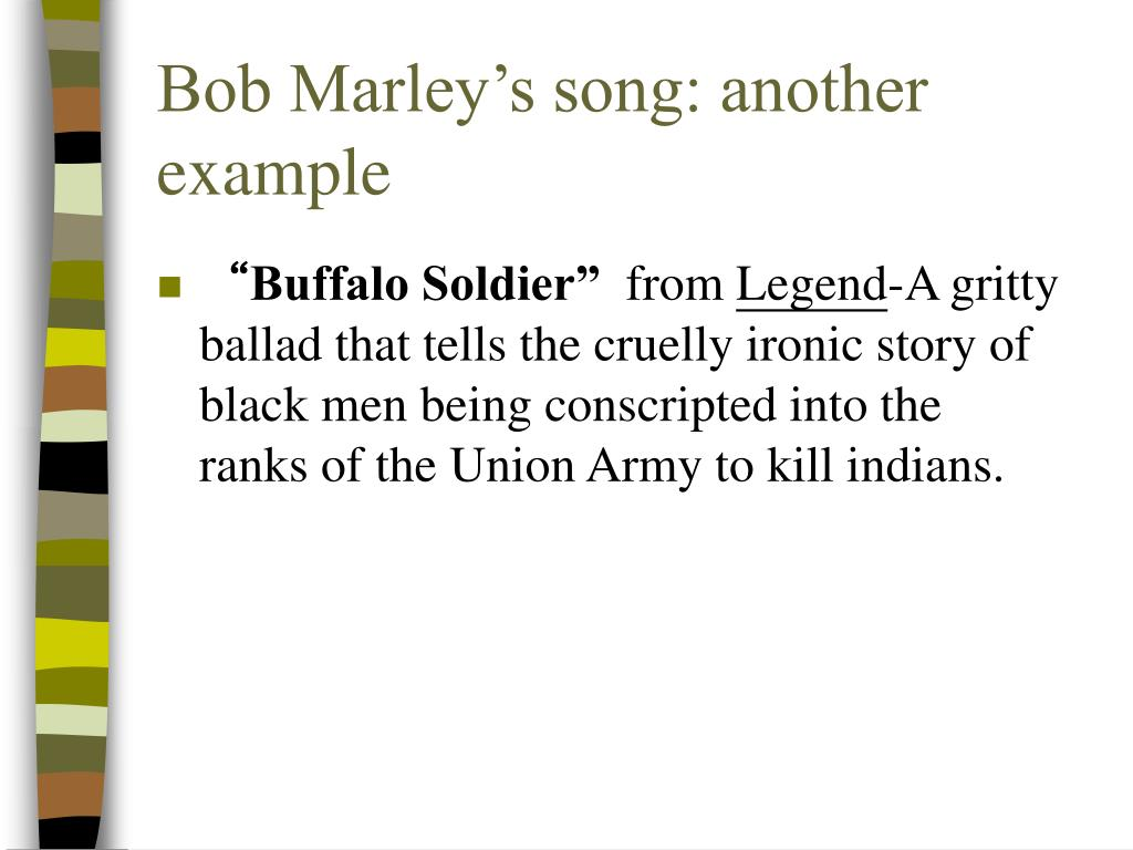 Bob Marley's song: another example