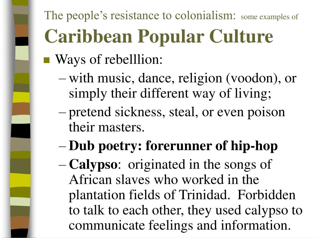 The people's resistance to colonialism: