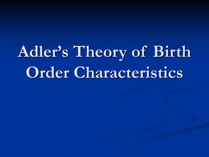 adlerian theory Adlerian therapy is a short-term, goal-oriented, and positive psychodynamic therapy based on the theories of alfred adler—a one-time colleague of sigmund freud adler focused much of his.