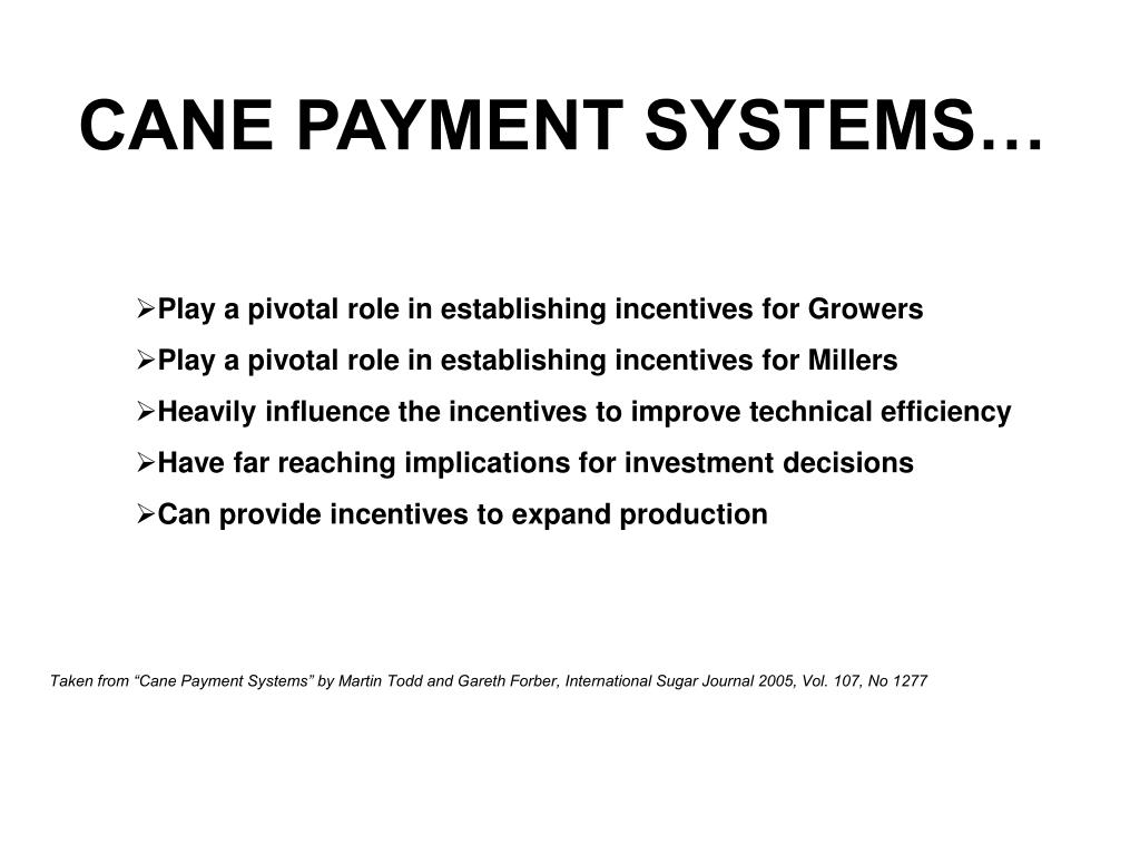 CANE PAYMENT SYSTEMS…
