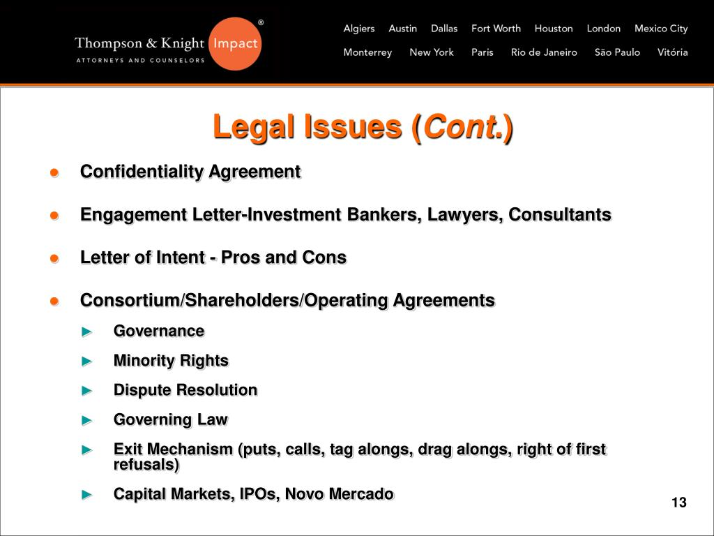 Legal Issues (