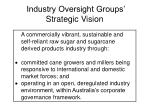 industry oversight groups strategic vision