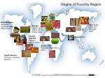 origins of food by region