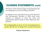 closing statements cont d
