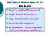guyana s sugar industry the basics