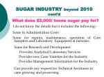 sugar industry beyond 2010 cont d41