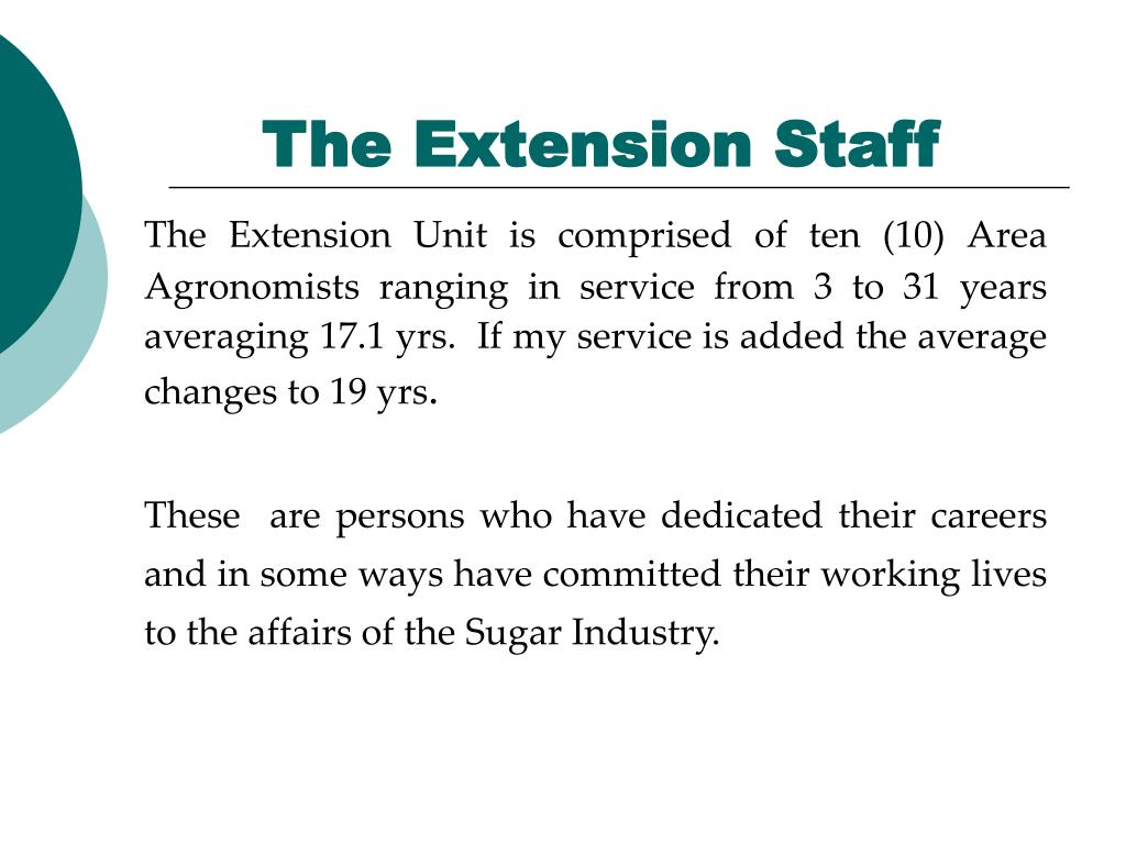 The Extension Staff