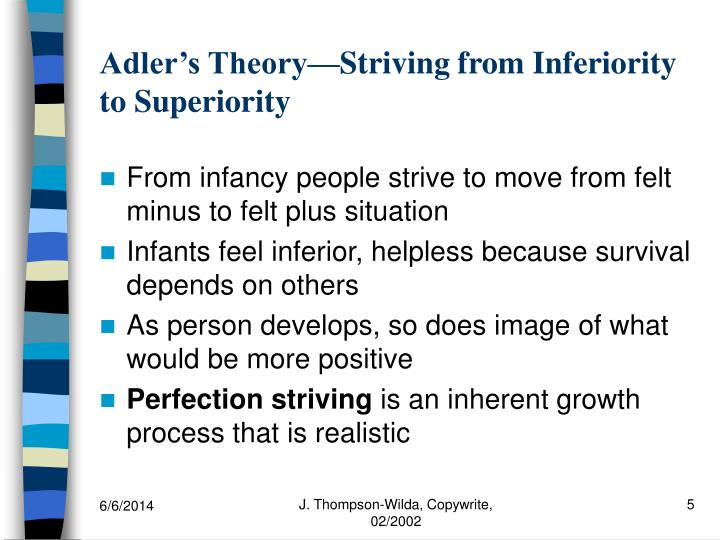 an examination of alfred adlers theory of personality