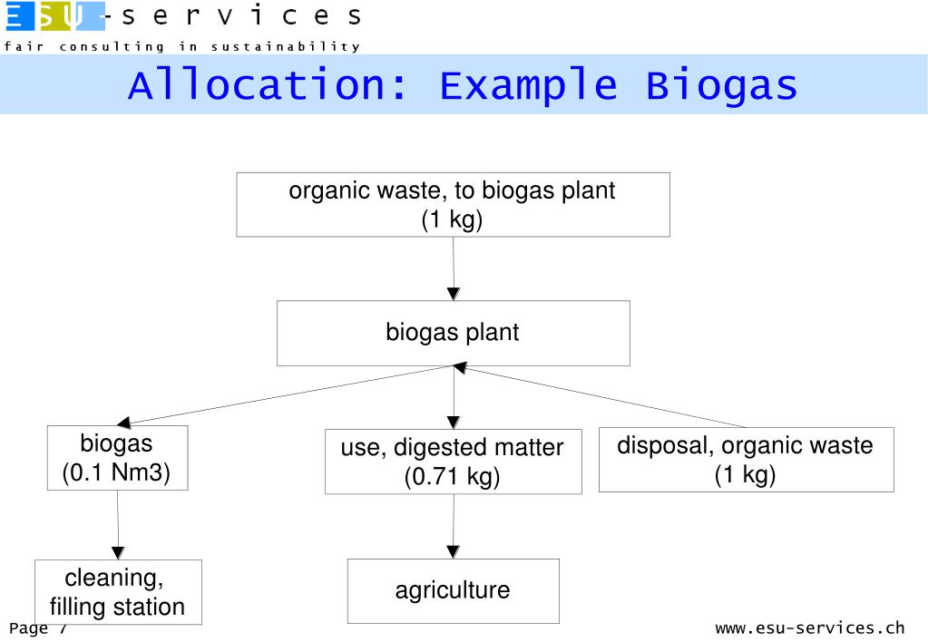 Allocation: Example Biogas
