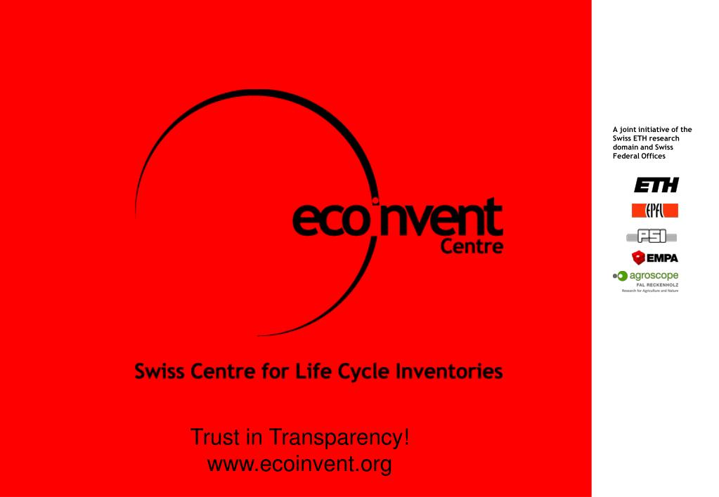 A joint initiative of the Swiss ETH research domain and Swiss Federal Offices