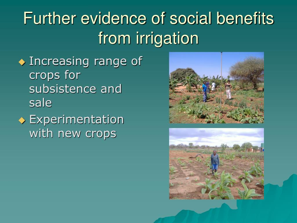 Further evidence of social benefits from irrigation
