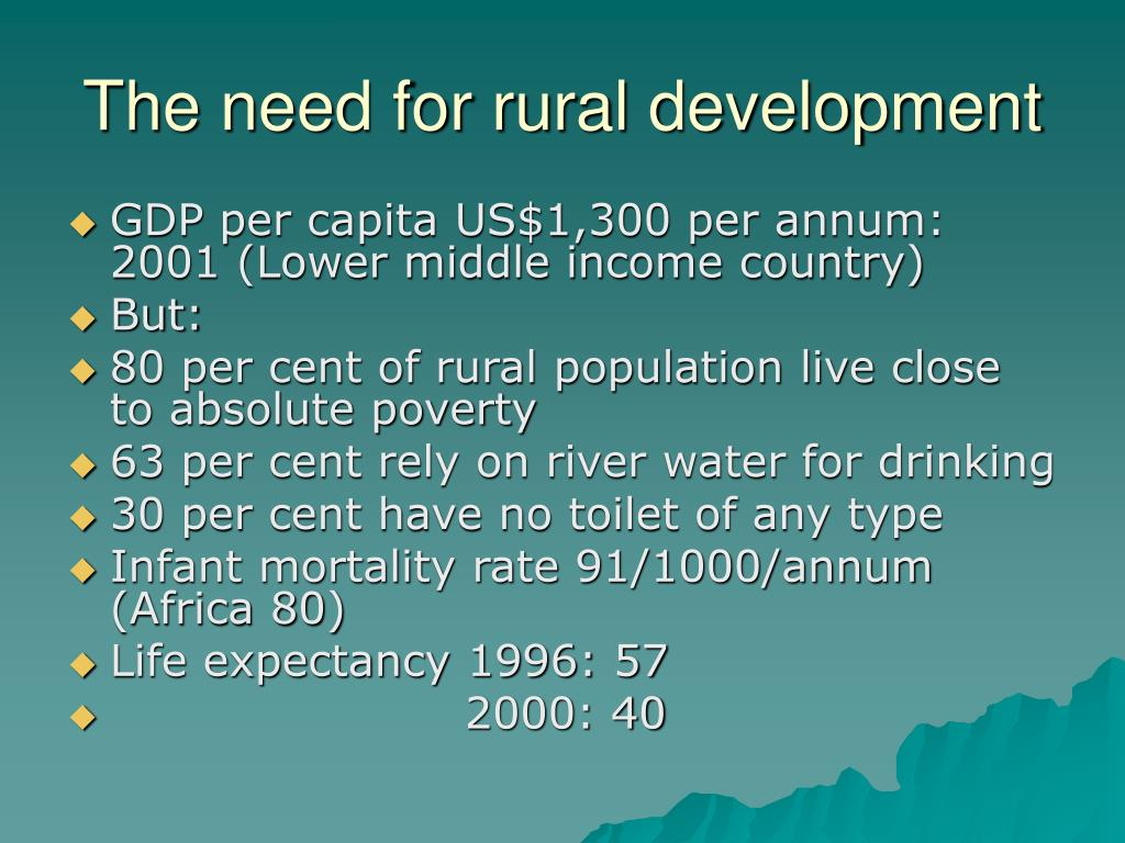 The need for rural development