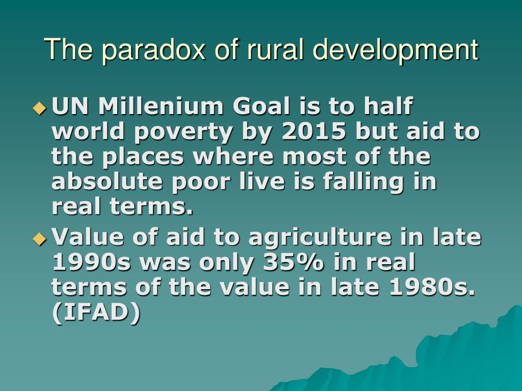 The paradox of rural development