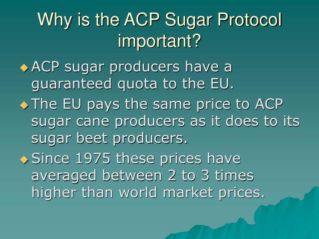 Why is the ACP Sugar Protocol important?
