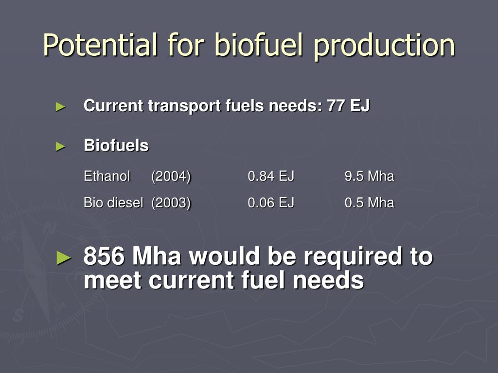 Potential for biofuel production