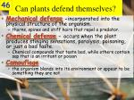 can plants defend themselves