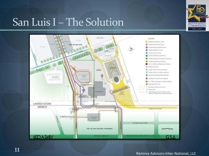 San Luis I – The Solution
